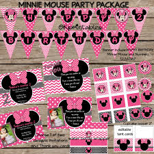 minnie mouse party pack minnie mouse by okprintables on zibbet