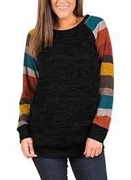 alvaq women lightweight color block long sleeve sweatshirt tunic