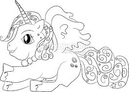 unicorn coloring pages for kids unicorn coloring page for kids vector art thinkstock