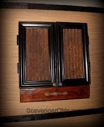Dart Board Cabinet Plans Dartboard Cabinet Diy Scavenger Chic