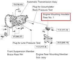 lexus is300 parts diagram motor mount transmission mount location diagram clublexus