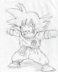 how to draw goku from dragon ball z archives pencil drawing