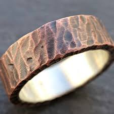 rustic mens wedding bands best copper mens wedding ring products on wanelo