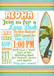 free printable luau party invitations kids
