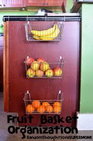 Cabinet Baskets Storage Random Thoughts Of A Supermom Fruit Basket Organization