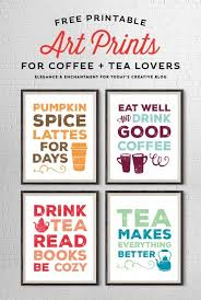 free printable art home decor free printable art prints for coffee and tea lovers free printable