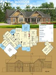 plan 360002dk craftsman ranch with 3 or 4 beds and lots of