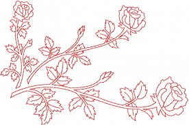 Rose Table Cloth  Embroidery Designs Machine Embroidery Designs - Table cloth design