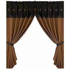 Western Curtain Rod Holders Western Spurs Horshoes Curtain Rod And Bracket Set Cabin Place