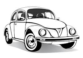 vintage car sketch coloring book black and white drawing