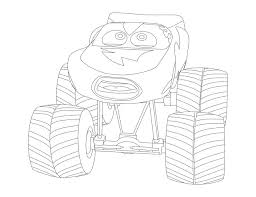 monster truck mater coloring coloring pages