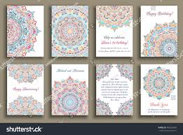 Vintage Floral Frame For Invitation Wedding Baby Shower Card Vector Cards Set Wedding Invitation Birthday Stock Vector
