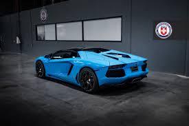 Lamborghini Aventador Roadster - breathtaking blu cepheus lamborghini aventador on hre wheels