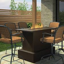 west fire pit table bar height