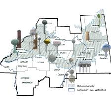Decatur Illinois Map by Mahomet Aquifer Consortium Maps Of The Aquifer