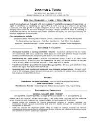 Best Resume Format For Managers by Hospitality Manager Resume Sample Free Resume Example And