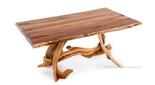 live edge tables offer a natural holiday dining experience
