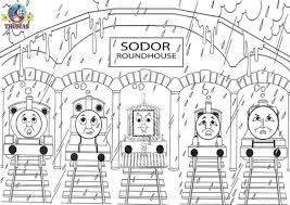 gambar thomas train friends coloring pages