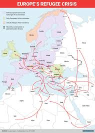 World War 2 In Europe And North Africa Map by Map Of Europe Refugee Crisis Business Insider
