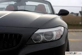 bmw z4 toronto bmw z4 satin black wrap vehicle customization shop vinyl car