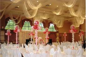 cheap wedding halls balloon decorations rustic party interior pink balloons on the