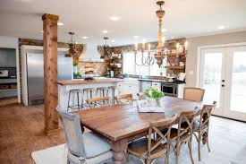 country wooden dining table in your dining room interior design