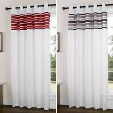 Ebay Curtains Royale Stripe Eyelet Curtain Panel Ringtop Unlined Curtain Panels