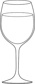 glasses clipart wine glass line art free clip art