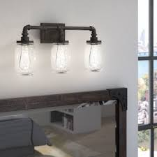 3 Fixture Bathroom Jar Vanity Light Fixture Wayfair