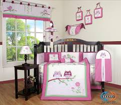 amazon com boutique pink entranced forest 13pcs crib bedding