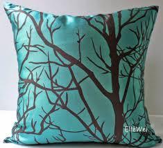 Modern Throw Pillows For Sofa Elleweideco Modern Cyan Blue Throw Pillow Cover Home