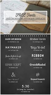 funky wedding invites free fonts to use on rustic or vintage inspired wedding