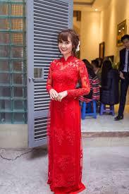 ao dai cuoi dep soi áo dài cưới tinh xảo tuyệt đẹp của sao việt thời trang báo