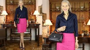 preppy for women over 50 skirt length chat plus preppy ootd magenta skirt navy shirt