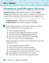 grammar common and proper nouns 5th 6th grade worksheet