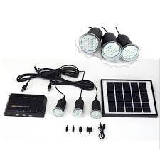 solar dc lighting system 4w solar panel lighting home system kit usb charger with 3 led light