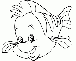 flounder coloring pages ariel flounder coloring pages depetta