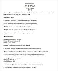 Marketing Assistant Resume Sample Marketing Administrative Assistant Administrative Coordinator