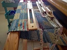weaving rag rugs on a loom roselawnlutheran