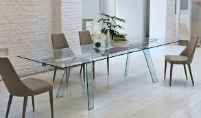 Table Salle A Manger Verre Design by Toronto Table à Rallonge En Verre 200 250 300 X 100 Cm Pieds