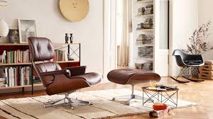 brown chair and ottoman vitra lounge chair ottoman