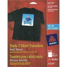 avery t shirt transfers inkjet 8 1 2 x 11 5 pack 03279