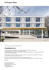 bewerbung praktikum architektur darlington meier architekten ag kontakt stellen