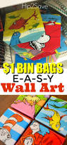 super easy wall art from reusable bags easy wall art easy wall