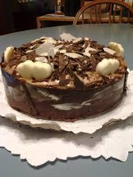 cake brownie con dulce de leche y mousse de chocolate deco