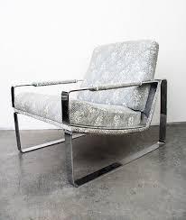 mid century modern lounge chair chrome armchair milo baughman