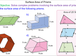 surface area of prisms by mr mathematics teaching resources tes
