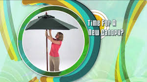 Sunbrella Replacement Canopy by Patio Umbrella Replacement Youtube