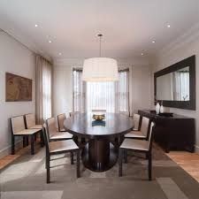 Dining Room Doors Oval Dining Room Modern With Table Midcentury Side Chairs