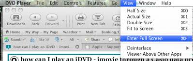 how can i play an idvd imovie through a casio data projector for